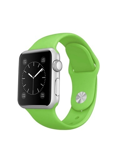 Jacobson Apple Watch Kordon Seri 38 Mm Ve 40 Mm Silikon Kordon Kayış Yeşil